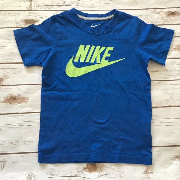 Nike Other - NIKE Blue Logo Tee Shirt Boys Size 7